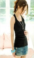 Women's Lace Collar Tank Top Ladies vest Tops Sleeveless T-Shirt KR200
