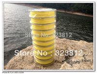 PE free shipping  Wholesale - dyneema   braided fishing line 8LB--80LB 1000M yellow
