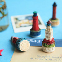 Free shipping Korea stationery de resin stamp decoration inkpad rubber stamp