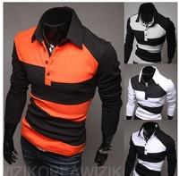 New Arrive For Men's Spring Stripe Style Long-sleeve Hoodies South Korea Design Fashion Slim Fit For Men 4color 4size Novelty