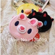 Black pink rabbit yellow chick cartoon Coin purses, containing shopping bags, 3pcs(China (Mainland))