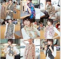 Fast arrived Fashion new  print chiffon long  women scarf scarves shawls 10 pcs/lot