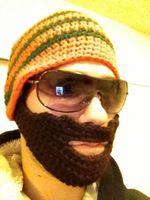 2014 Fashion Handmade Knit Crochet Beard Beanie Mustache Mask Face Warmer Ski Winter Hat Cap bb093