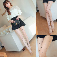 2014 New products on the market love peach heart  show thin stockings free shipping