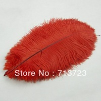 "14-16""(35-40cm) Orange Color  Wedding Centerpieces Decoration Ostrich Feather Plume 50pcs/lot  White Ostrich Feather"