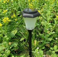 hexagonal  Plastic solar lawn light for garden decorative  5pcs/lot Free shipping