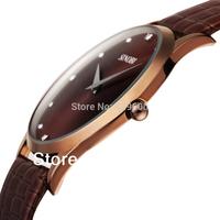 2014 New Arrival SINOBI Brand Leather Strap Watch for Mens Man Fashion Style Quartz Military Waterproof Wristwatch SNB002