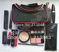 Free Ship 9PCS/Set Makeup Set EyeShadow,Lipstick,Mascara,Brush Set,Eyelash,Cosmetic Bag and So on Christmas Gift Cosmetic Set