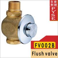 Free shipping FV002B brass flush valve self-closing flush toilet flush time-extended valve