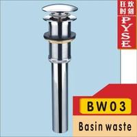 Free shipping BW03 brass chrome basin drainer basin waste basin pop up waste