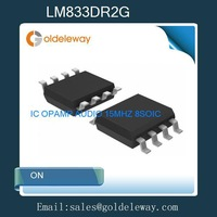 55pcs=1 Lot LM833DR2G ON IC OPAMP AUDIO 15MHZ 8SOIC