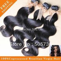 100% Brazilian Virgin Hair  Bundles Unprocessed Human Virgin Hair Extension Body Wave