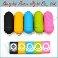 Wholesale 5 Pieces/Lot, Colorful Portable Wireless Waterproof MP3 Vibrators , Remote Control Body Massager Vibrator Sex Toys
