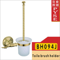 Free shipping BH094J brass toile brush huoder toilet holder gold bathroom fittings bathroom accessories