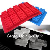 Wholesale LFGB block brick Ice Mold Silicone Ice Cube Tray Free Shipping via Fedex , 100pcs per lot  T66