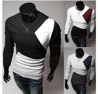 2014 Free Shipping New Fashion Men's Top Quality T shirt Long Sleeve Cotton  T-Shirt