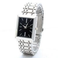 Free shipping hot sale square watch square men's quartz watches couple wristwatches simple fashion business wristwatches