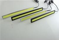 2pcsX17cm COB Ultra-thin 9W COB Chip New  LED Daytime Running Light 100% Waterproof LED DRL Fog car lights