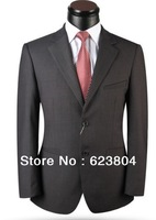 free shipping dark gray suits cheap brand men suits 2014 latest coat pant designer suits black/ blue/ gray