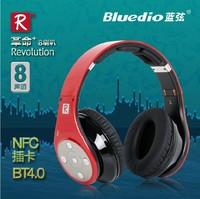 Bluedio R+ headset Bluetooth headphone,8-channel  8 hifi Audio speaker units,NFC+SD card Multi-Media Player