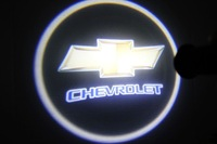 Free Shipping 2 Latest  chevrolet 4Th Generation Car Laser Projector Welcome Logo Ghost Door LED Light Lamp