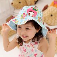 Children's hat summer sun hat fashion cute apple children HuaMao baby basin hat leisure cap