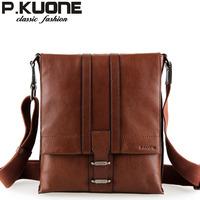 P . kuone messenger bag bag business casual genuine leather man bag vintage cowhide shoulder bag