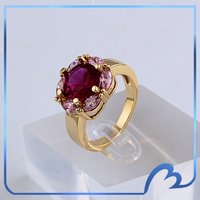 Wholesale Luxury Ruby Ring 18k Gold Plated with Little Marquise Cut CZ Fashion Top Quality Jewelry New 2014(Min order $8)