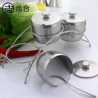 304 stainless steel spice jar set condiment box seasoning box sauce pot taste cup kitchen three piece set