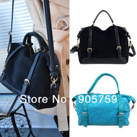 Lady Girls Fashion Vintage Style Nubuck Leather&PU Handbag Shoulder Bag