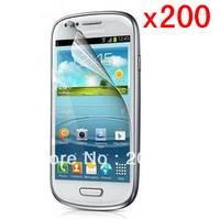 200pcs/lot Screen Protector for Samsung Galaxy S3 Mini i8190 Film, for Samsung Galaxy S3 Mini Protective Film - Ultra Clear
