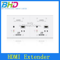 High quality latest 100m HDMI WallPlate Over single Cat5e / 6 Cable.