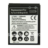 100pcs/Lot New 1500mAh Backup Rechargeable Battery For HTC My Touch 4G Merge Free Shipping