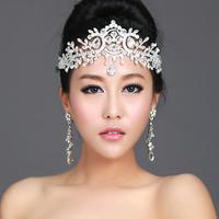 Fashion angel wedding bride rhinestone hair accessory indian unique eyebrows  jewelry forehead hairwear prom tiara wholesale