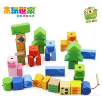 Free Shipping Animal beads 38 grain wear beads toys, wooden toys, Blocks, children's wooden toys