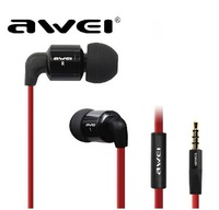 Awei ES-600I Metal wire control hifi smart stereo earphonefor mobilephone with mic