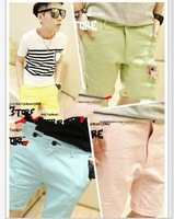 2013 candy color slim unisex casual 9 tooling shorts male