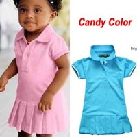 Baby Dress(1-5y) New Spring Summer 2014 Infant Girls Brand Polo Dress children/kids Princess tennis One-piece Dresses