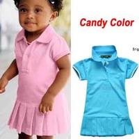 Baby Dress(1-5y) New Spring Summer 2014 Infant Girls Brand Polo Dress children/kids Princess tennis One-piece Dresses