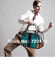 2014 new designed cartoon shoulder 3d bag 2d messenger bag canvas carry in space free shipping 3d handbag
