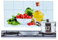 free shipping 2014  High-grade oil proofing kitchen stickers / wall stickers with VEGETABLE AND FRUIT