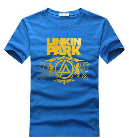 LINKIN PARK T SHIRT TOP TEE TSHIRT MUSIC ROCK PUNK POP TEE 100% COTTON SHORT SLEEVE FASHION SHIRT FOR MAN FREE SHIPPING(China (Mainland))