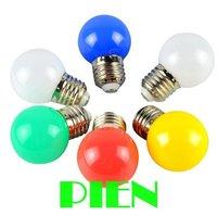 1w led bulb white green red blue yellow mini decorative led lamapra E27 3014 SMD 110V-220V Free Shipping 2pcs/lot