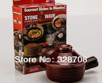 Mini Steamer Casserole Soup Pot Casserole Stone Wave Microwave Ceramic Stonewave Baking Pan Non-Stick Ceramic