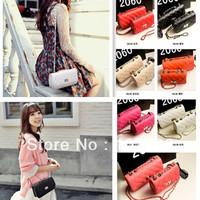 2014 new design cross  buckle messenger bag ,summer lady chain handbag ,6colors in stock