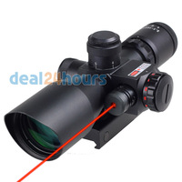 New Tactical Red Dot Laser hunting Sight 2.5-10X 40mm Scope Reflex Red / Green Reticle Mount Free Shipping