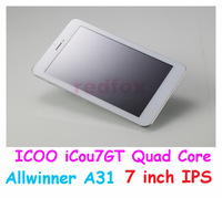 2013 Hot sale Free shipping for ICOO ICOU 7GT Tablet PCEU adapter free, in stock!,Support for multiple languages! Redfox