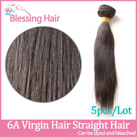 5pcs lot virgin human hair weaves malaysian straight hair extension,unprocessed queen hair wefts,blessing 6A malaysian remy hair