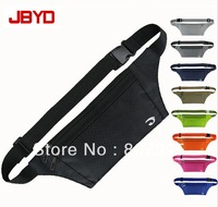 Free shipping outdoor leisure sports jogging slim waterproof personal security Waist bags Mobile phone passport document package