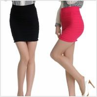 New 2014 Girls' Pleated skirt A-line Female Mini skirt Cotton Candy Color 3pcs/lot Slim popular skinny skirt free shipping